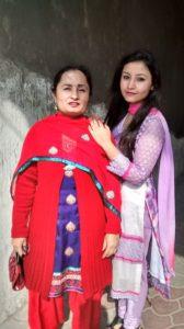 Navdeesh Kaur with her mother
