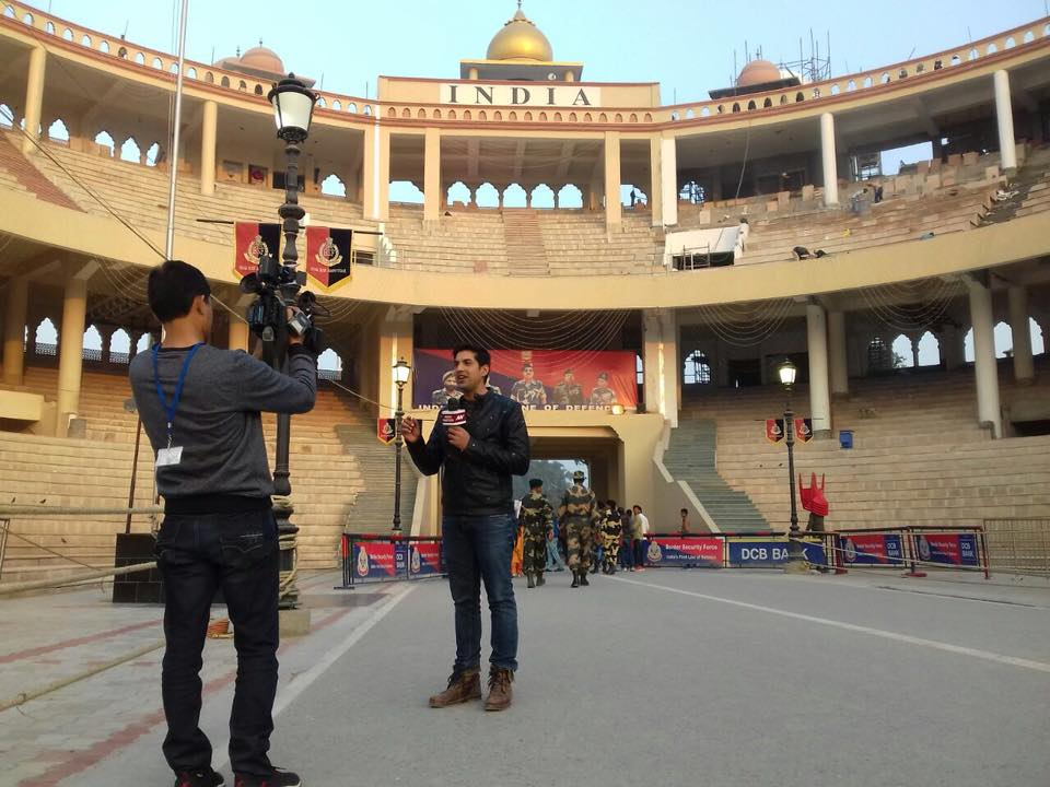 Naved Qureshi at Wagah border