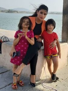 Rubika Liyaquat with her children