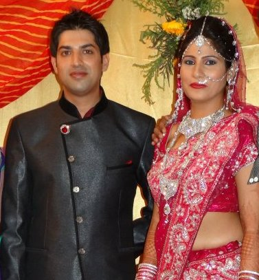 Naved Qureshi with his wife