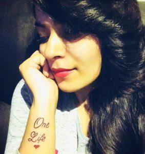 Nidhi Jha tattoo