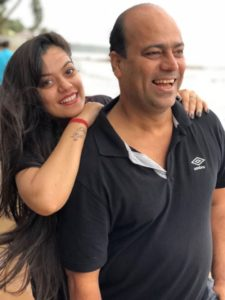 Nidhi Jha with her father