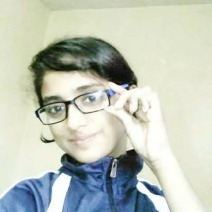 Nisha Guragain in school days