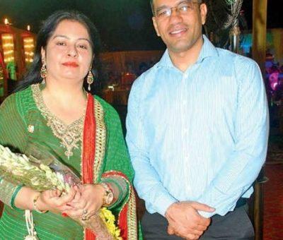 Puja Thakur Sekera with her husband
