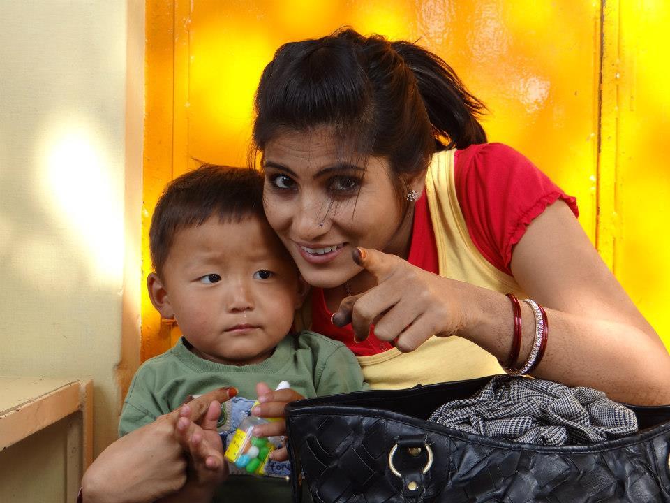 Rubika Liyaquat with her son