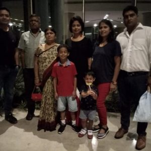 Sarika Singh with her family