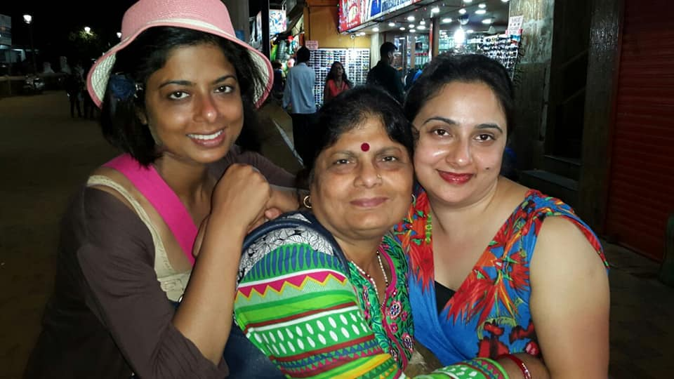 Sarika Singh with her mother