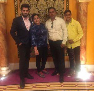 Tehraan Bakshi with his family