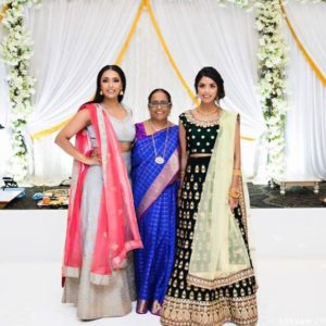 Vini Raman with her sister and mother