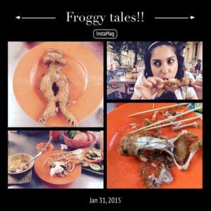 Anjilee Istwal eating frog