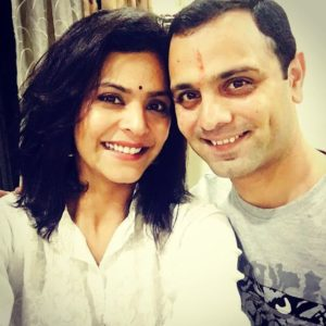 Anuja Sathe with her brother
