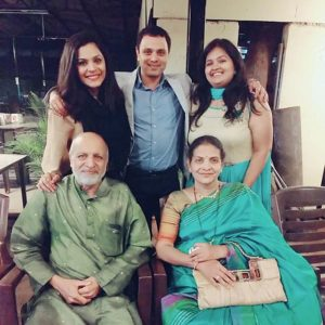 Anuja Sathe with her family