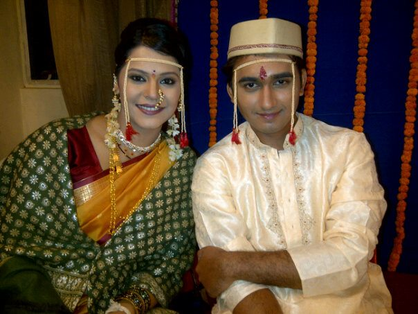 Anuja Sathe with her husband