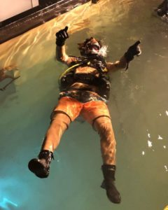 Chase Stokes Doing Scuba Diving