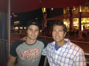 Chase Stokes with his father
