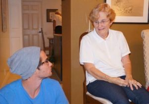 Chase Stokes with his grandmother