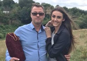 Chloe Veitch with her father