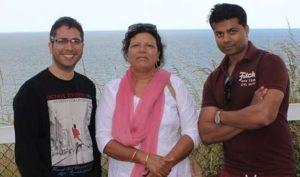 Jasmine Masih mother and brother