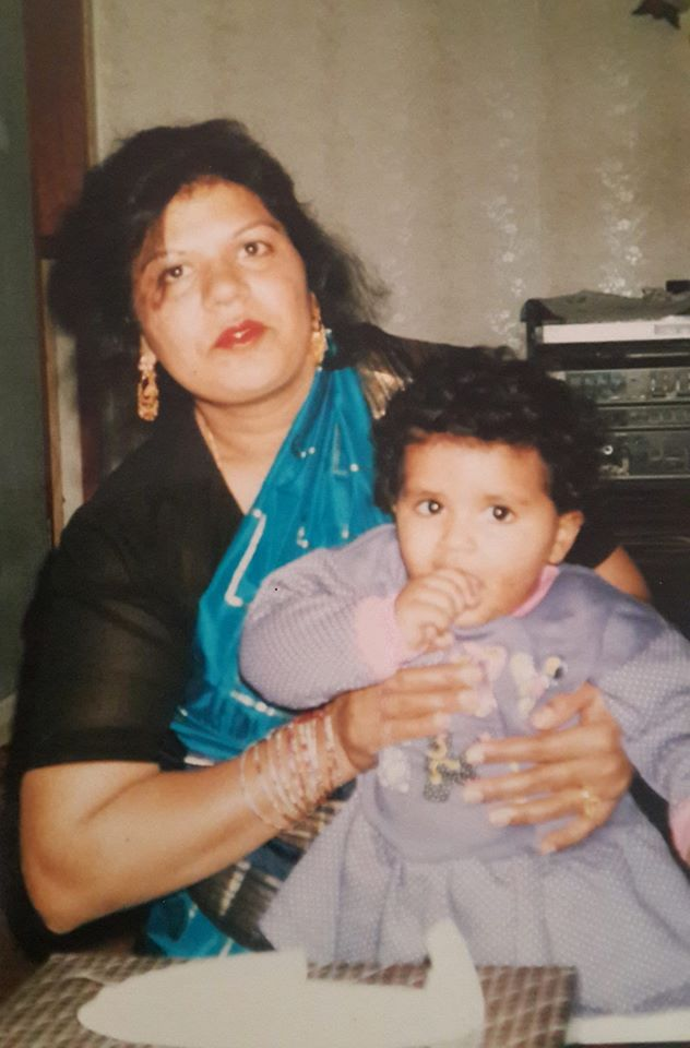 Jasmine Masih with her mother