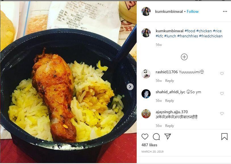 Kumkum Binwal follows a non-vegetarian diet