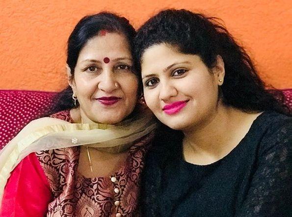 Kumkum Binwal with her mother