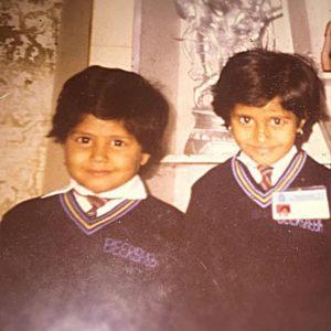 Kumkum Binwal with her sister