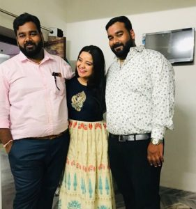 Madhuri Kalal with her brother