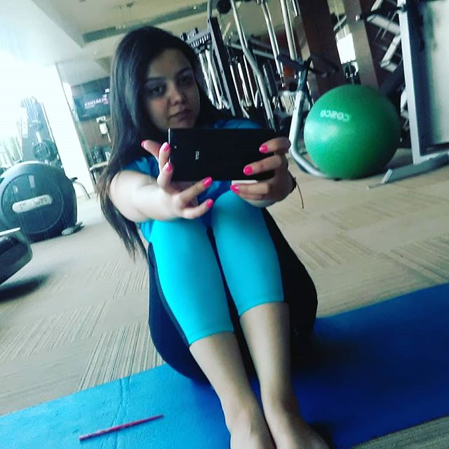 Madhuri Kalal in gym