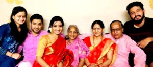 Meenakshi Kandwal with her family