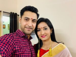 Meenakshi Kandwal with her husband