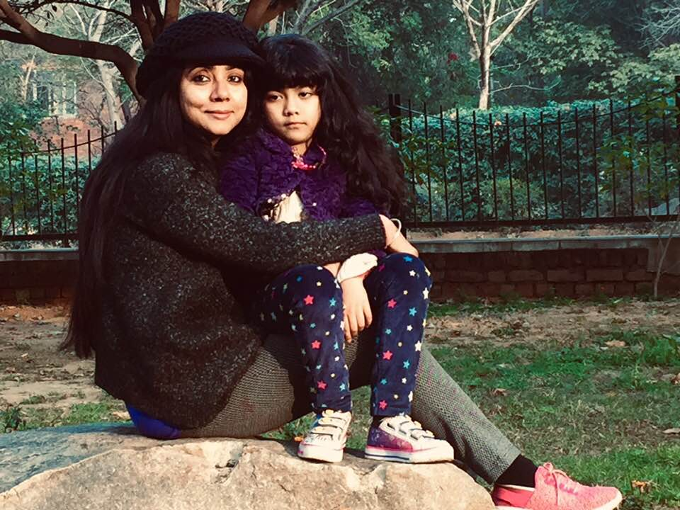 Naghma Sahar with her daughter