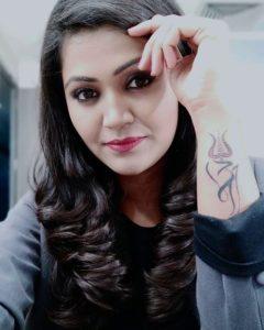 Naina Yadav tattoo