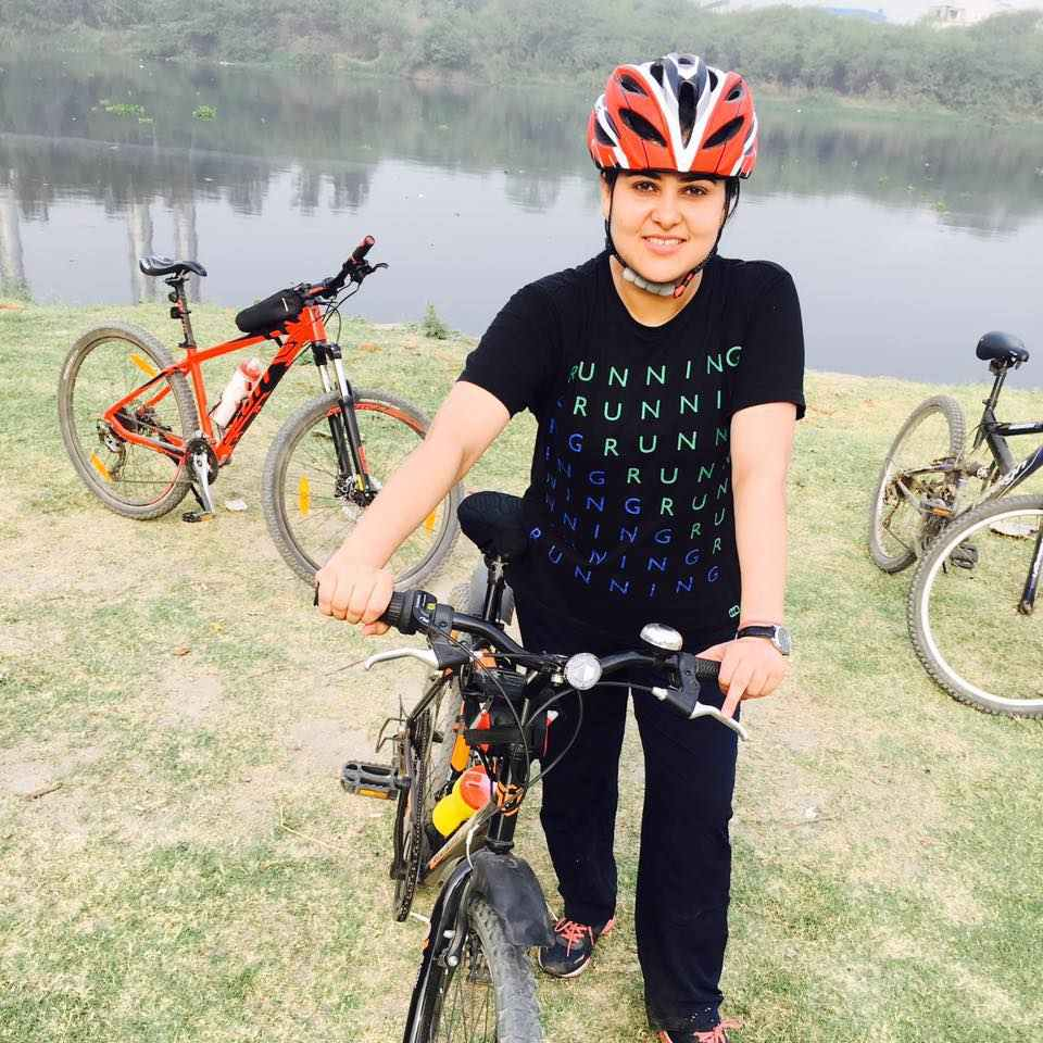 Nidhi Vasandani loves cycling