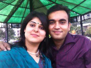 Nidhi Vasandani with her husband Gautam Vasandani.