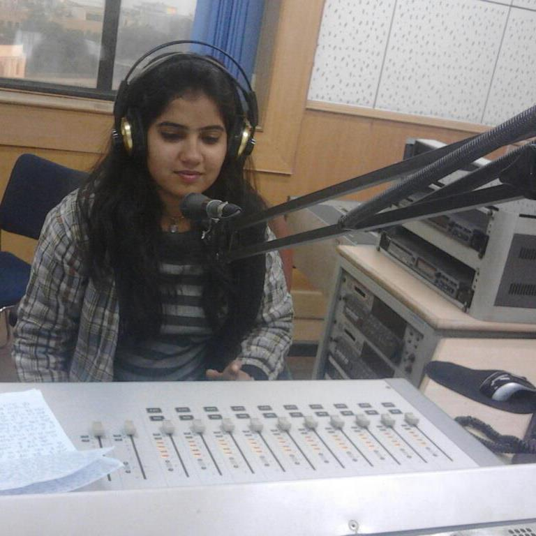 Priyanka Sharma at All India Radio News