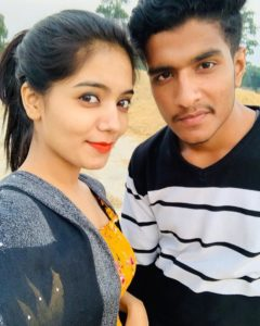 Rasika Pandey with her brother