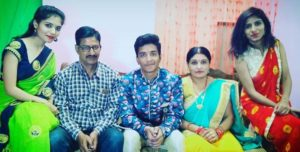 Rasika Pandey with her family