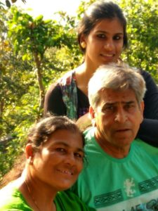 Rubika Liyaquat with her family