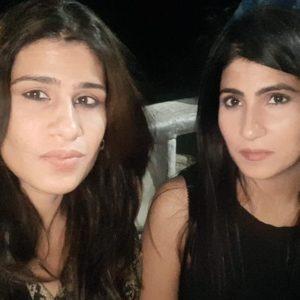 Rubika Liyaquat with her sister