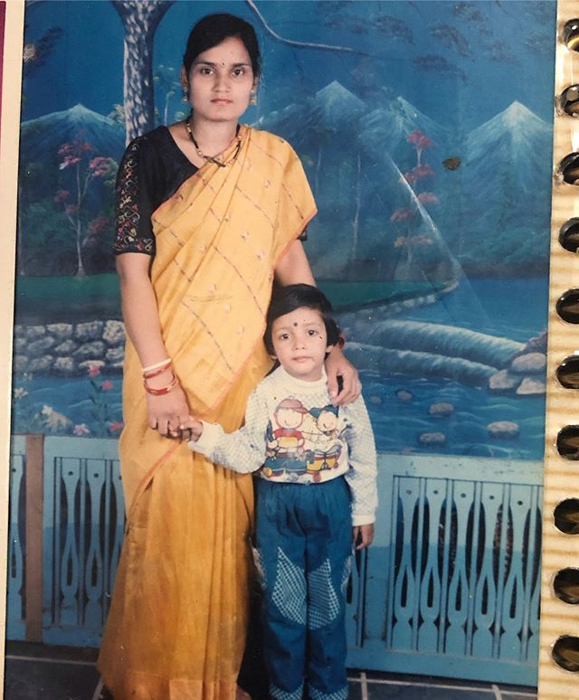Veronica Vanij with her mother