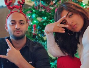 Zayn Marie Khan with her brother
