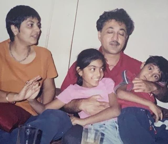 Zayn Marie Khan with her family