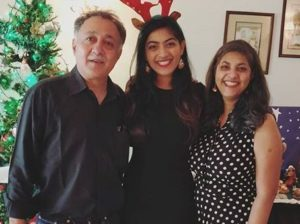 Zayn Marie Khan with her parents