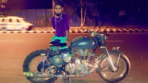 Amir Siddiqui with his bike
