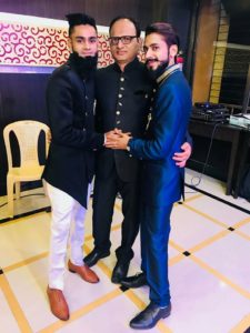 Amir Siddiqui with his father and brother