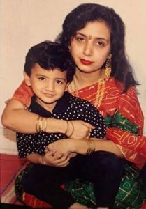 Ayush Mehra childhood with his mother