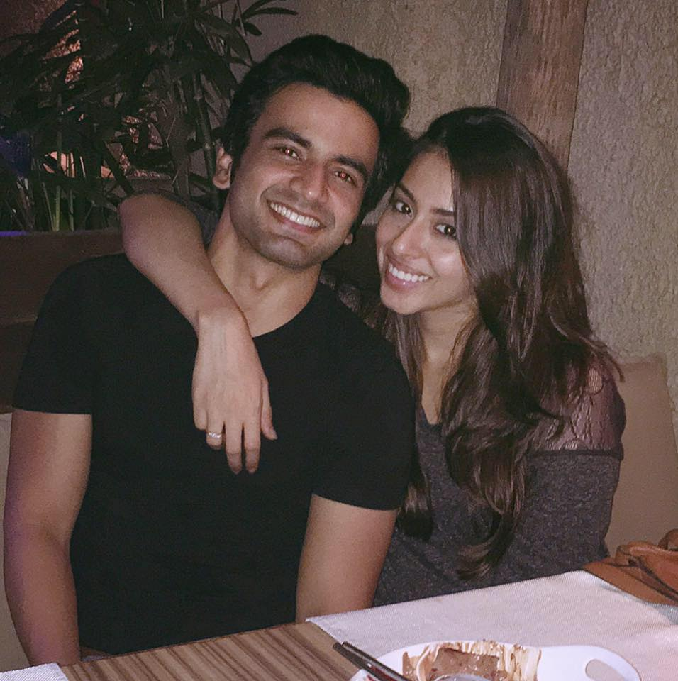 Ayush Mehra with his girlfriend