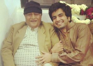 Ayush Mehra with his grandfather