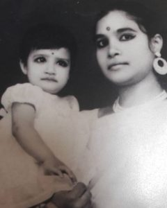 Bharati Pathak with her mother