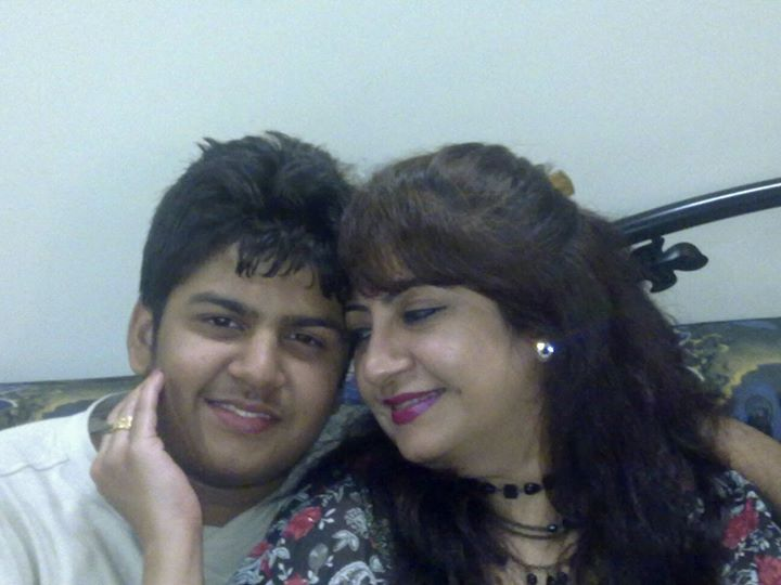 Bharati Pathak with her son